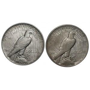USA - 2 x dolar 1922 - Peace Dollar
