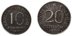 Królestwo Polskie - 10 Feningów i 20 Feningów 1917