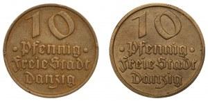 Wolne Miasto Gdańsk - 2 x 10 fenigów 1932 - Dorsz
