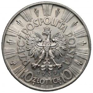 II RP - 10 złotych 1939 - Józef Piłsudski