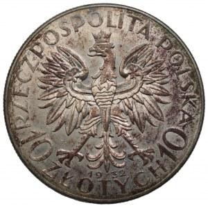 II RP - 10 złotych 1932 - Głowa kobiety