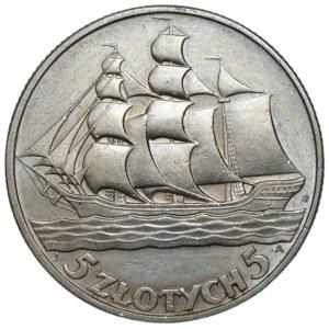 II RP - 5 złotych 1936 Żaglowiec
