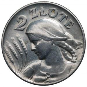 II RP - 2 złote 1925 - Kobieta i kłosy