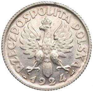 II RP - 1 złoty 1924 - Kobieta i kłosy - Paryż