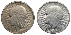 II RP - 2 x 2 złote 1932/1934 - Głowa kobiety