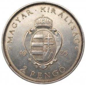 Węgry - 2 pengo 1935