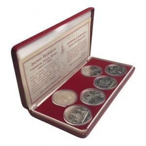 ZSRR - Olimpiada w Moskwie - zestaw 6 sztuk monet 1 rublowych w dedykowanym etui