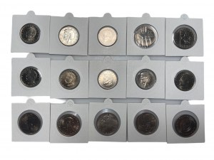 PRL - Zestaw 15 monet - 1967 - 1984