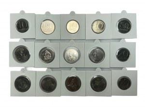 PRL - Zestaw 15 monet - 1981 - 1990