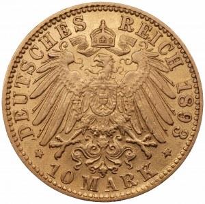 NIEMCY - Badenia - Fryderyk I, 10 marek 1893 - (G) Karlsruhe