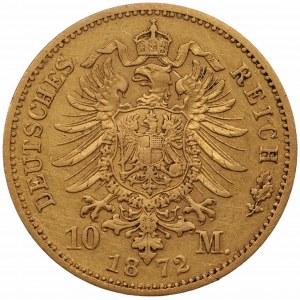 NIEMCY - Wilhelm - 10 marek 1872 - (C) Frankfurt nad Menem