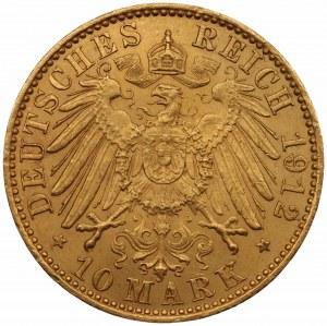 NIEMCY - Prusy - Wilhelm II - 10 marek 1912