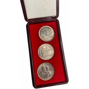 PRL - Zestaw 3 x 100 złotych 1966 - Mieszko i Dąbrówka w oryginalnym dedykowanym etui