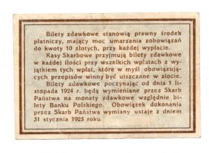 Bilet Zdawkowy - 10 groszy 1924