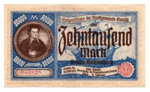 GDAŃSK / DANZIG - 10.000 marek 1923