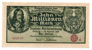 GDAŃSK / DANZIG - 10.000.000 marek 1923 - seria A