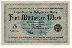 GDAŃSK / DANZIG - 5.000.000.000 marek 1923