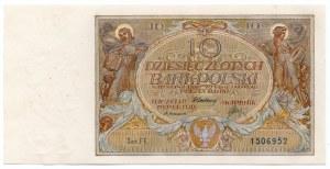 10 złotych 1929 - seria FF