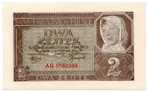 2 złote 1941 - seria AG