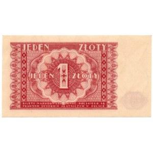 1 złoty 1946 bez oznaczeia serii oraz numeracji