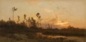 Zygmunt Sidorowicz, O zachodzie, 1878