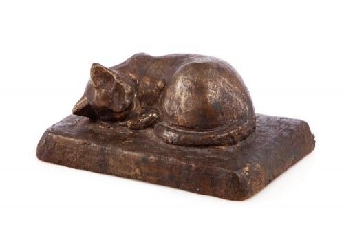 Autor nieokreslony, XX w., Figurka Kot