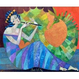 Jan Bonawentura Ostrowski, Dziewczyna grająca na flecie