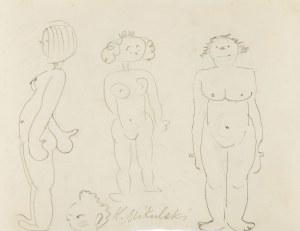 Kazimierz Mikulski (1918 Kraków -1998 tamże), Trzy akty i głowa, praca dwustronna, 1940