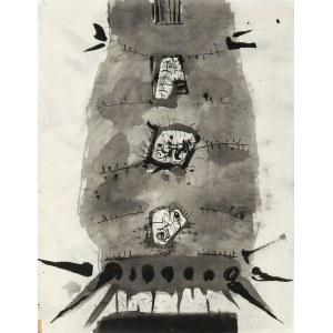 Aleksander Kobzdej (1920 Olesko na Ukrainie – 1972 Warszawa), Bez tytułu. Praca dwustronna, 1968