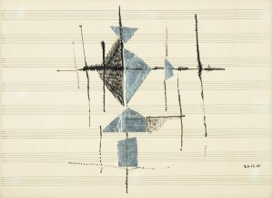 Arika Madeyska (1920 Warszawa - 2004 Paryż), Kompozycja na pięciolinii, 1961 r.