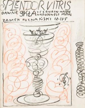Franciszek Starowieyski (1930 Bratkówka k. Krosna - 2009 Warszawa), Projekt plakatu do wystawy: Splendor Vitris. Dawne szkła ze zbiorów Muzeum Narodowego Poznań