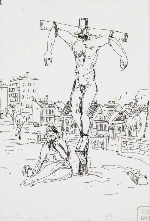 Edward Dwurnik (1943 Radzymin - 2018 Warszawa), Chrystus za murem, 1979 r.