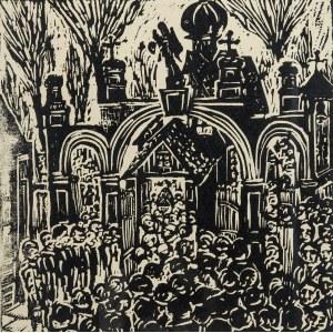 Władysław Rząb (1910 Zgierz – 1992 Łódź), Przed kościołem