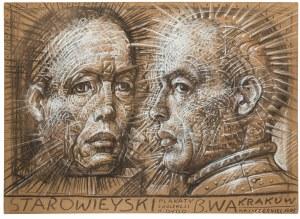Franciszek Starowieyski (1930 Bratkówka k. Krosna - 2009 Warszawa), Projekt plakatu z kolekcji K.Dydo, 1985 r.
