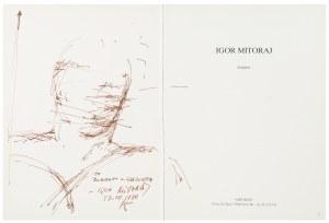 Igor Mitoraj (1944 Oederan - 2014 Paryż), Rysunek z dedykacją, 1990 r.