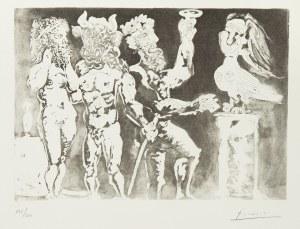 Pablo Picasso (1881 Malaga - 1973 Mougins), Zamaskowane postaci, kobieta-ptak. Z cyklu: Portfolio Vollarda, 1934, nr 24