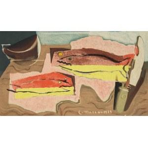 Louis Marcoussis (1878 Warszawa - 1941 Cusset), Martwa natura z rybami