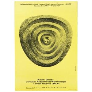 Roman Opałka (1931 Abbeville-Saint-Lucien - 2011 Rzym), Plakat z wystawy Matka i dziecko w Polskim Medalierstwie Współczesnym, 1969 r.