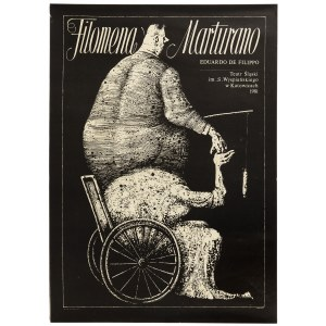 Jerzy Duda-Gracz (1941 Częstochowa - 2004 Łagów), Plakat do przestawienia teatralnego Filomena Marturano, 1981 r.