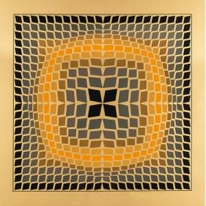 Victor Vasarely (1908 Pécs - 1997 Paryż), Quasar-2, 1971 r.