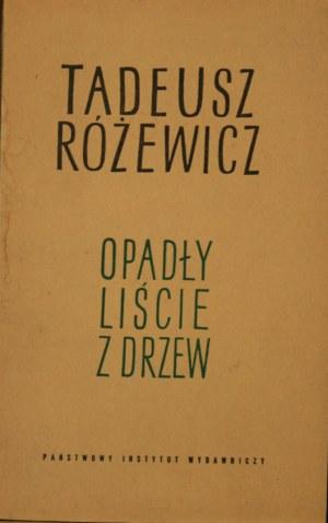Różewicz Tadeusz - Opadły liście z drzew.