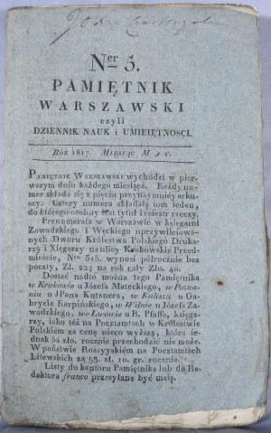 Pamiętnik Warszawski, R. III, T. VIII, nr 5, 1817