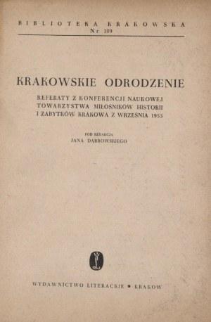 Biblioteka Krakowska nr 109 Krakowskie odrodzenie.