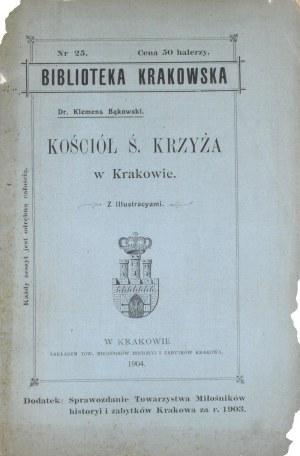 Biblioteka Krakowska nr 25 Bąkowski Klemens - Kościół Ś. Krzyża w Krakowie.