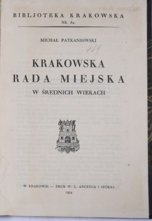 Biblioteka Krakowska nr 82 Krakowska Rada Miejska w średnich wiekach.