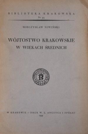 Biblioteka Krakowska nr 95 Wójtostwo krakowskie w wiekach średnich.