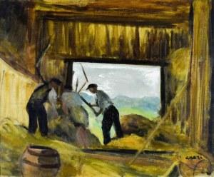 Irena WEISS – ANERI (1888-1981), Młocka w stodole III (W stodole), 1962