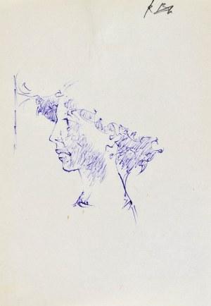 Roman BANASZEWSKI (1932-2021), Szkic popiersia kobiety z lewego profilu