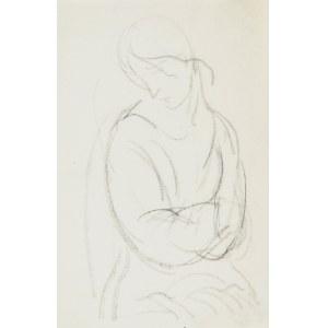 Leopold GOTTLIEB (1883-1934), Szkic kobiety z założonymi rękami