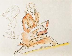 Leopold GOTTLIEB (1883-1934), Kobieta nad książką